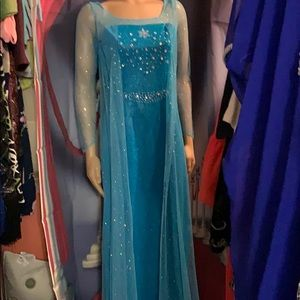 New Elsa Dress for Women large gorgeous w/train